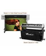 Mutoh ValueJET 1324 Large Format Color Printer & ValueCUT 1300 Package